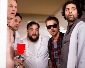 "Jesse, Tim, Derek, Josh and Davinder open the door to Jimmy z in ""The M Word"""