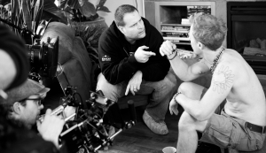 peter directing 80 lays bw