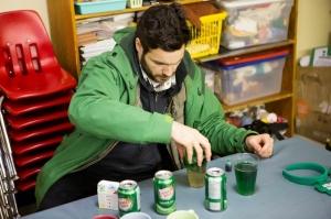 Alberto making Green Beer