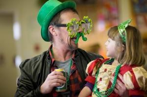 Josh and Sylvie on St. Patrick's Day